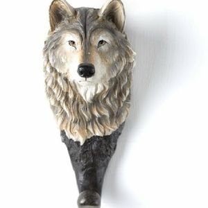 Wolf Head Coat Hook